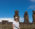 Amy with Moai