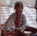 Child selling trinkets at Angkor Wat